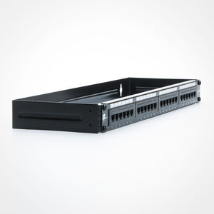 24 Port CAT5E Patch Panel with Bracket Image 2