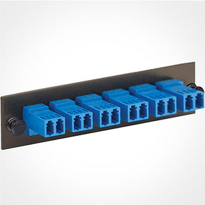ICC ICFOPL16BK LC Fiber Optic Adapter Panel - 6 Duplex Ceramic