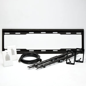 Rhino Brackets Tilt TV Wall Bracket with In-Wall Wire Hider Kit for 37-70 Inch Screens