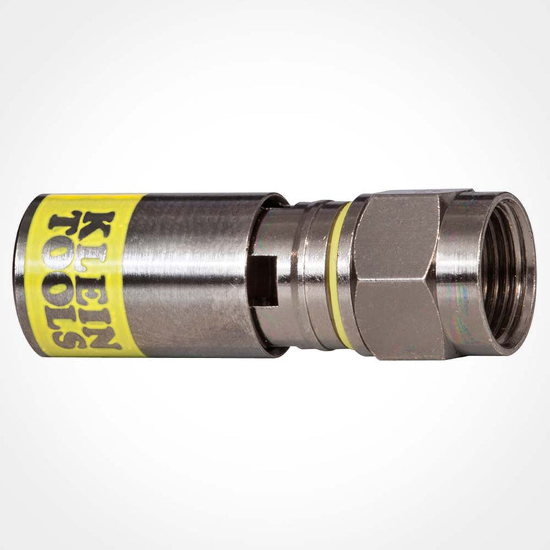 Klein Tools VDV812-612 F-Type Compression Connector - RG6/6Q (50-Pack)