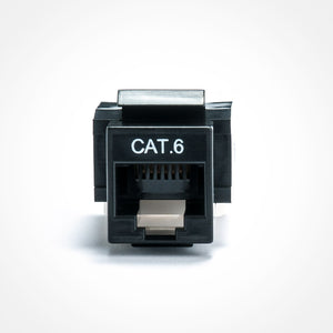 Cat6 Keystone Jack - Toolless, Black Image 3