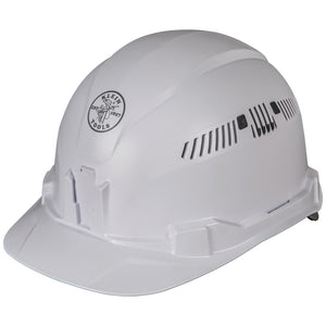Klein Tools Hard Hat, Vented, Cap Style, 60105