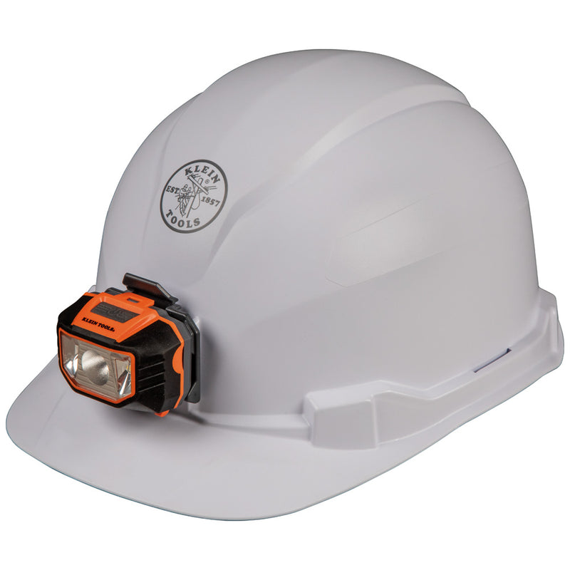 Klein Tools Hard Hat, Non-vented, Cap Style with Headlamp, 60107