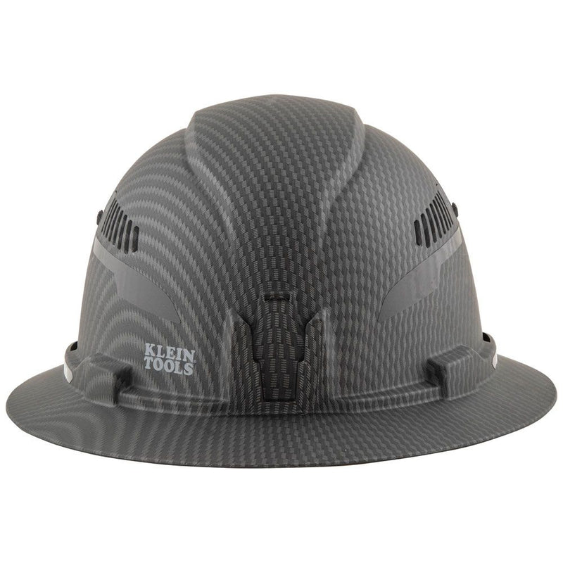 Klein Tools Hard Hat, Premium KARBN, Vented Full Brim, Class C with Headlamp