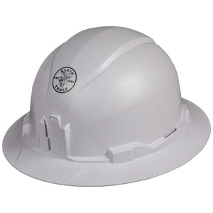 Klein Tools Hard Hat, Non-vented, Full Brim Style, 60400