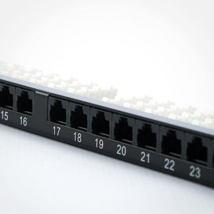 Quest NPP-6124 24 Port CAT6 Low-Profile High-Density Patch Panel Image 5 at FireFold.com