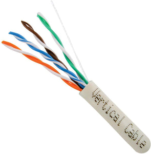 Cat5E Cable With 24AWG 350MHz UV-Rated - White Jacket