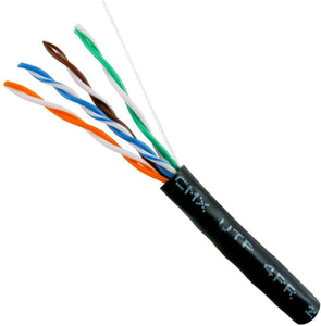 Cat5E Cable With 24AWG 350MHz UV-Rated - Black Jacket