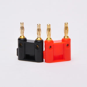 Dual Tip Banana Plug Pair - Screw Type