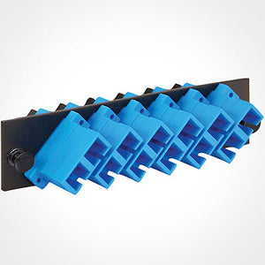 ICC SC Fiber Optic Adapter Panel - 6 Duplex Ceramic