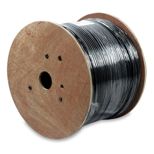 NetStrand 1000ft Solid Shielded Cat6 Bulk Cable 23AWG - black