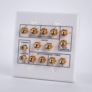 Vanco HTWP62 6.2 Home Theater Connection Wall Plate