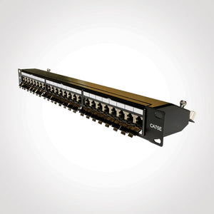 Vertical Cable 041-372/S/24 24 Port Cat5E Shielded Patch Panel