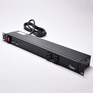 Quest 19 Inch Horizontal Power Strip - Black Product Image