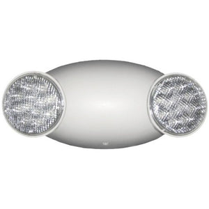 Morris Round Head LED Emergency Light High Output Remote Capable with Self Diagnostic White