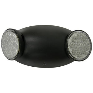 Morris Round Head LED Emergency Light Black