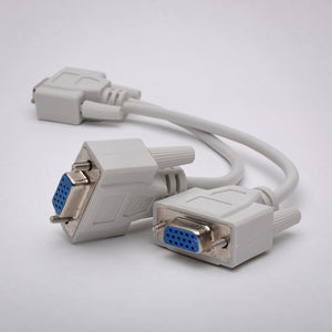 8 Inch VGA Splitter Cable Rear View