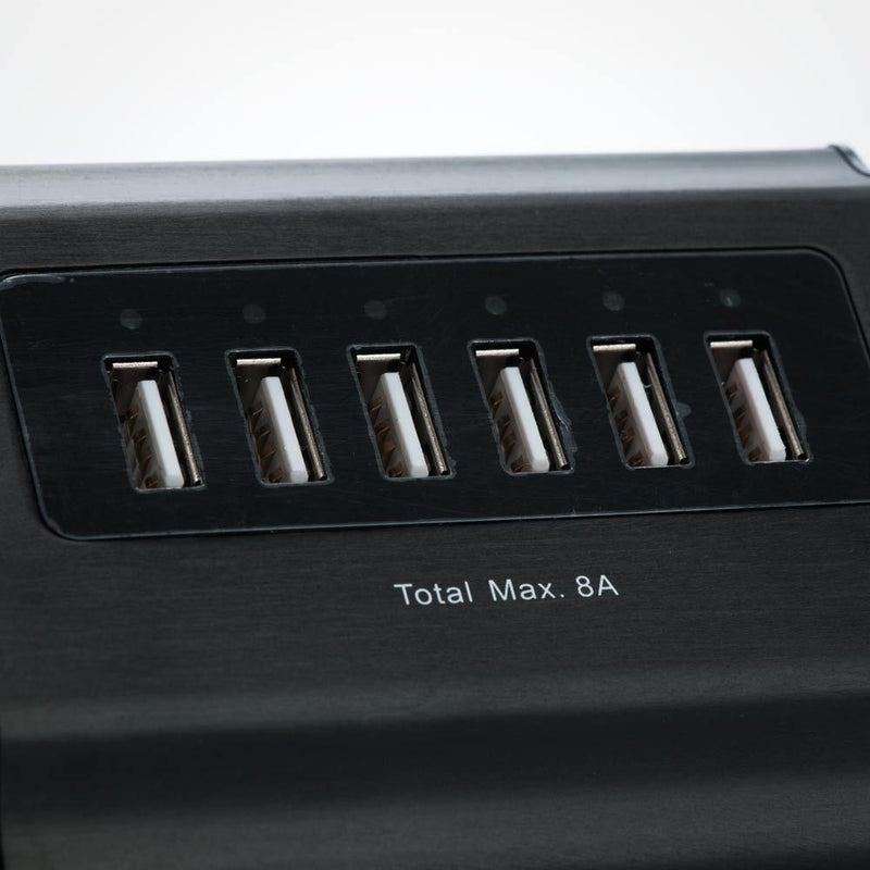 6 Port USB Wall Charger - 5V 8 Amps