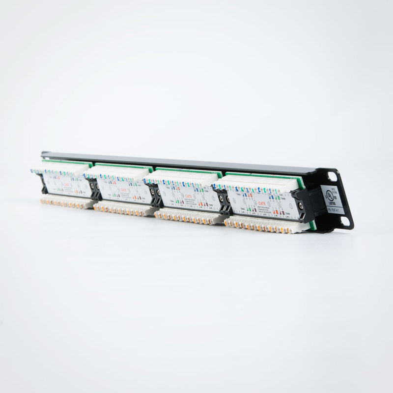 Vertical Cable Cat6 Patch Panel - 110 Type, UL
