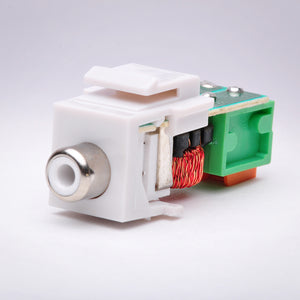 Composite RCA (White) Balun over CAT5 Keystone Jack