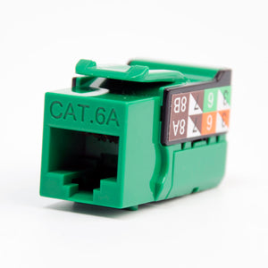 Cat6A Keystone Jack - 110 Style Green