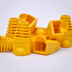 RJ45 Strain Relief Boots - 100 Pack, Yellow Image 5