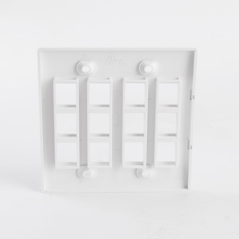 Keystone Jack Wall Plate - 8 or 12 Ports