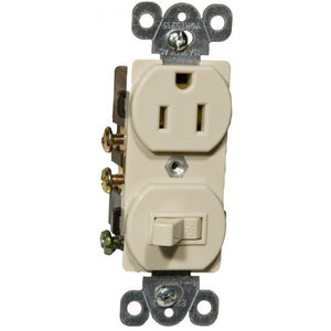 Morris 82175 Combination Single Pole Switch and Receptacle 15A-120V