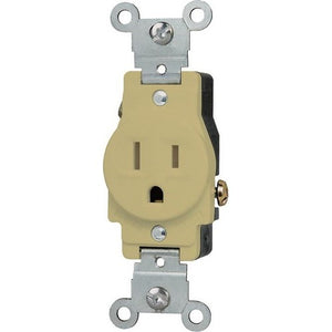 Morris Commercial Grade Tamper Resistant Single Receptacle 15A-125V