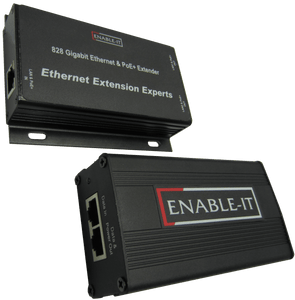 Enable-IT 2-Port PoE Extender Kit - Gigabit PoE over 4-pair wiring