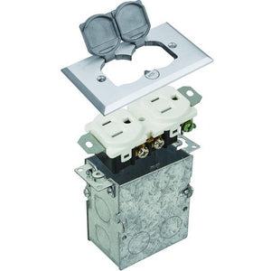 Morris Residential Floor Boxes - Nickel Plated