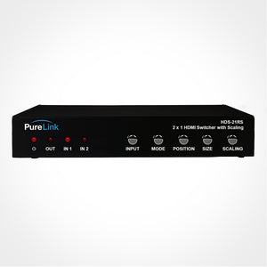 PureLink HDS-21RS 2x1 HDMI Switcher with Scaling