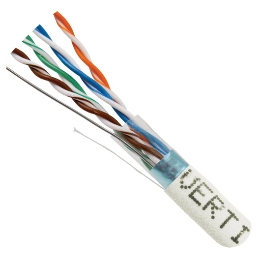 Vertical Cable 1000ft Solid Shielded Cat5E Cable - 24AWG F/UTP 350MHz CMR
