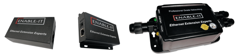 Enable-IT 2-Port Outdoor Gigabit PoE Extender Kit - PoE over 4-pair