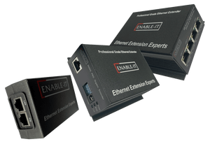 Enable-IT 4-Port Gigabit PoE Extender Kit - PoE over 4-pair wiring