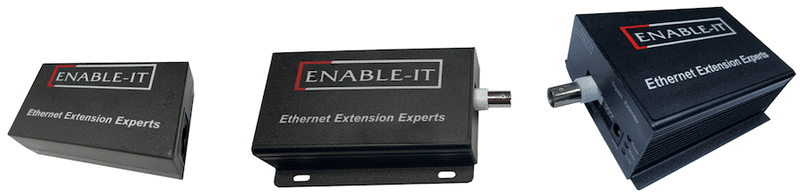 Enable-IT 4-Port Coax Gigabit PoE Extender Kit