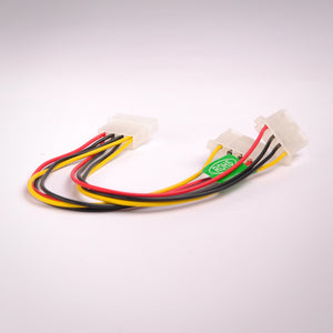 6 Inch 4 Pin IDE Power Y Splitter Cable Rear View