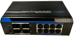 Enable-IT Gigabit 30W per port PoE SFP Fiber 8 Port Switch