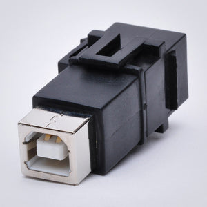 USB Keystone Jack - Type B Female to Female Coupler Alternative View
