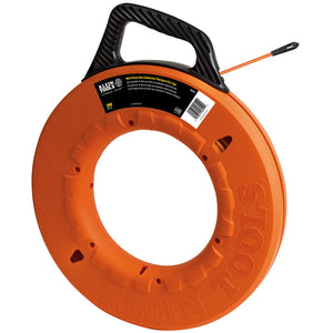 Fish Tape 200-Foot is Grooved Non-Conductive Fiberglass
