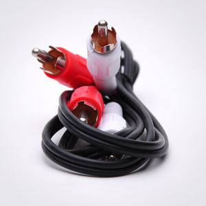 2 RCA Audio Cable - Male to Male Front Zoom View