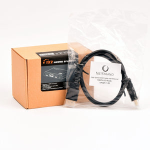 HDMI Splitter with 1.5ft HDMI Cable