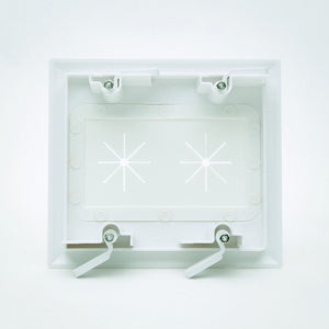 DataComm 45-0015-WH White 2 Gang Bulk Cable Wall Plate with Flex Opening Image 4