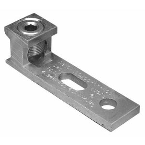 Morris 90742 Aluminum Mechanical Connectors One Conductor - Two Hole Mount - Slotted Mounting Hole 350MCM To #6