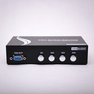 4x1 VGA Switch with 3.5mm Audio Front View