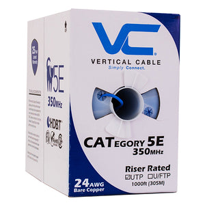 Cat5e Cable Of Copper & Bulk Ethernet In Blue