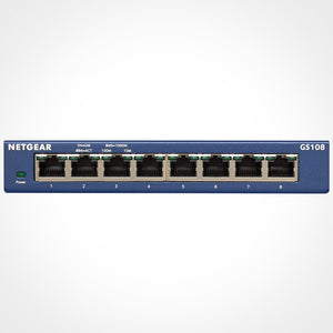 NETGEAR GS108 ProSafe 8-Port 10/100/1000Mbps Gigabit Ethernet Switch