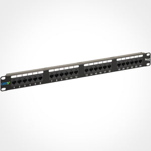 ICC ICMPP0245E 24 Port Cat5E Patch Panel, 1 RMS