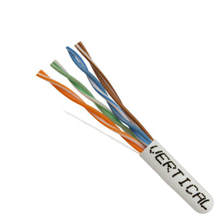 Cat5e Cable Of Copper & Bulk Ethernet In White - Closeup