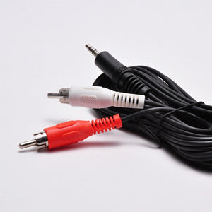 3.5mm Stereo Male to (2) RCA Male Adapter - 6ft Cable Image 2